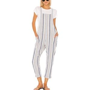 Bobi Zumba Stripe Overalls - Linen